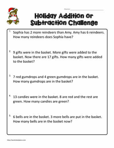 2nd Grade Word Problems Worksheets