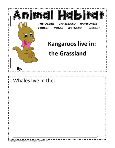 Printables Habitat Worksheets animal habitat worksheets booklet