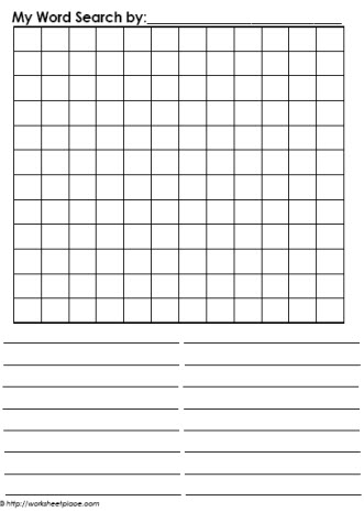create your own word search free