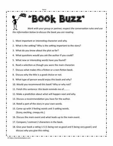 Book Buzz Worksheets