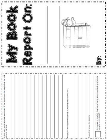 book report worksheets for 2nd grade Students write up a book report on this worksheet depicting a whale.