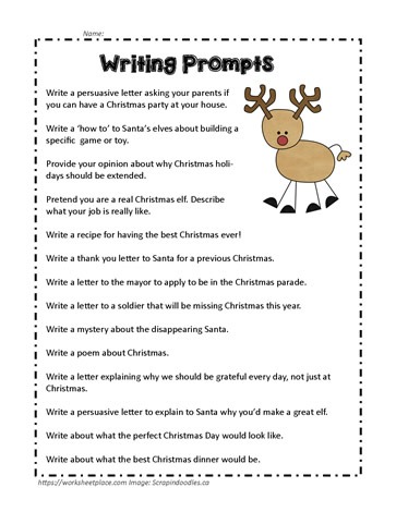 writing prompts for christmas Check out these 24 days of christmas writing prompts to get ready for christmas  come back every day to get a fun and surprising.