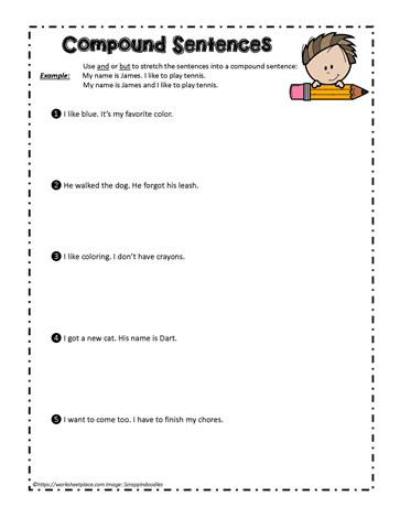 Compound Sentence Worksheets