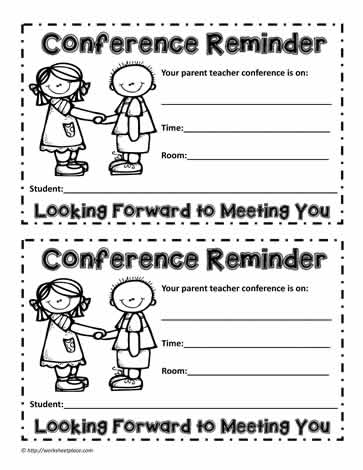 Parent Teacher Interview Worksheets