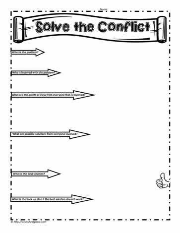 Solve Conflicts Worksheet