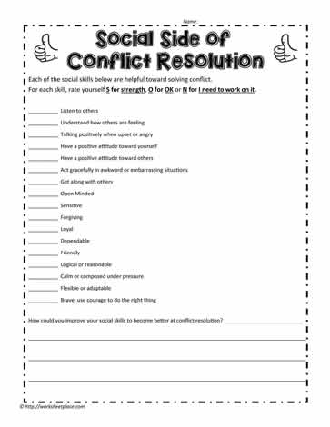 Conflict and Social Skills