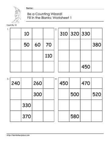 count by 10 worksheet 1 worksheets. Black Bedroom Furniture Sets. Home Design Ideas
