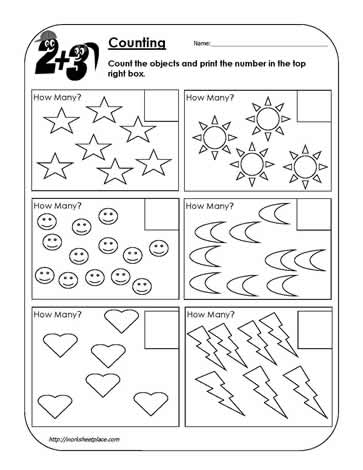 Counting Objects Worksheet 1 Worksheets
