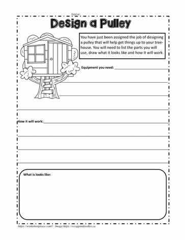 Pulleys For A Treehouse Worksheets