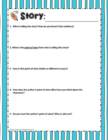 Point of View Worksheet Worksheets