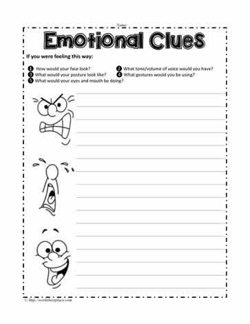 Emotional Clues Worksheets