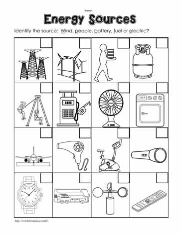 28+ [ Energy Worksheets For 2nd Grade ] | idenftify the ...