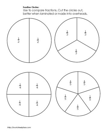 fraction circles worksheets. Black Bedroom Furniture Sets. Home Design Ideas