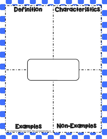 Frayer Model Example Worksheets