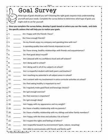 the relationship problems questionnaire survey