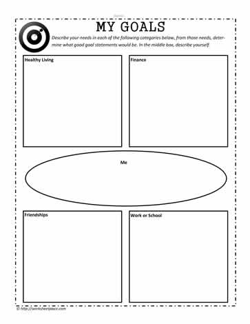 goal graphic organizer worksheets. Black Bedroom Furniture Sets. Home Design Ideas