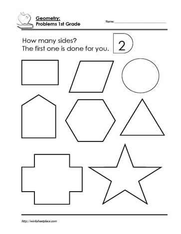 First Grade Geometry worksheets Worksheets