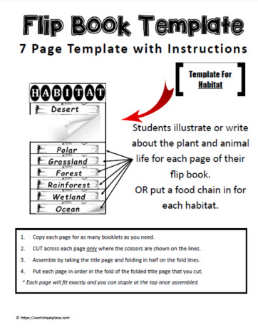 Habitat Flip Book Worksheets