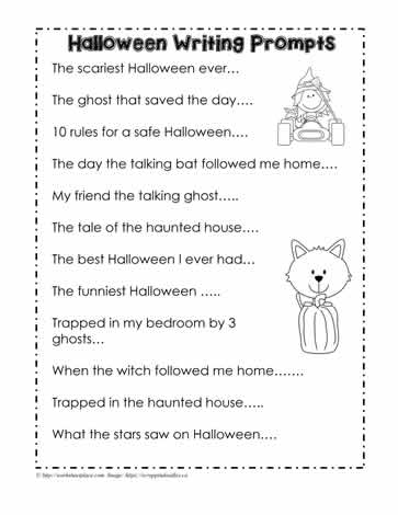 Halloween Writing Prompts Worksheets