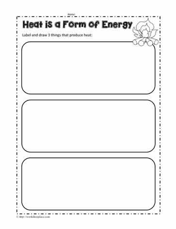 Energy worksheets 1st grade
