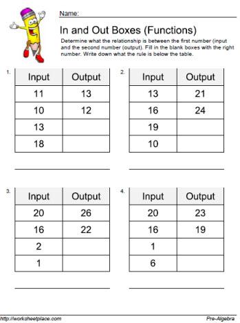 Input Output Worksheet 6 Worksheets