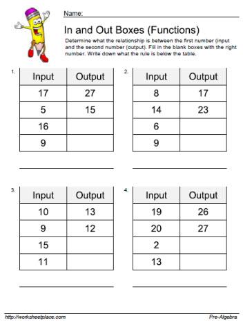 Input Output Worksheet 8 Worksheets