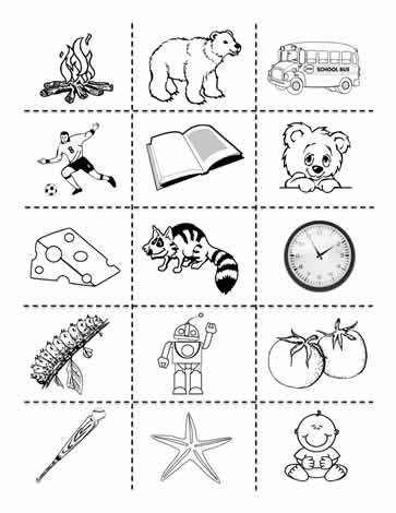 Living and Non Living Clipart Worksheets