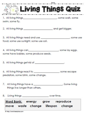 Genial How Much Do You Know About Living Things? A Grade 1 Quiz About Living  Things.
