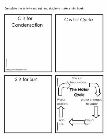 mini water cycle booklet worksheets. Black Bedroom Furniture Sets. Home Design Ideas