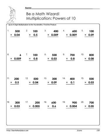 Powers of Ten: Up to Hundredths