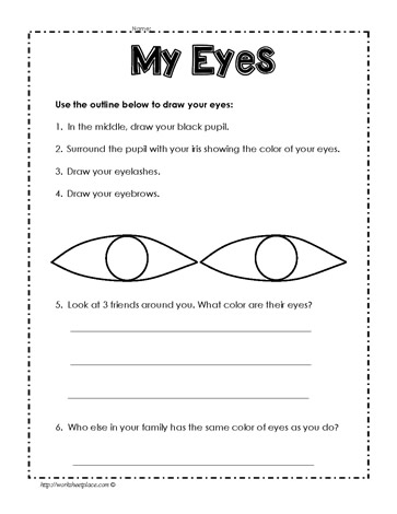My Eyes Worksheets