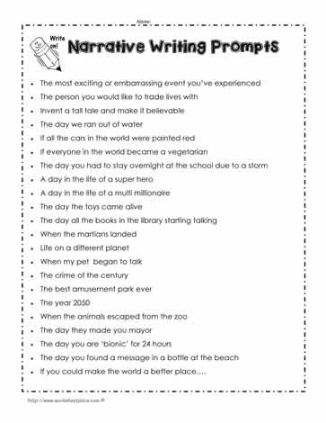personal narrative essays 6th grade Personal narrative writing supplement: 6 activities to this 46-page package includes lesson plans and resources to teach personal narratives to 3rd and 4th grade.