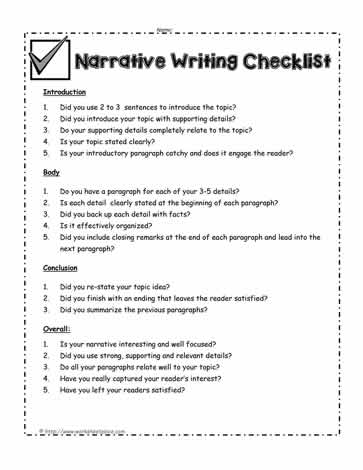 narrative writing checklist Milwaukee public schools division of teaching and learning office of academic excellence narrative writing guide.