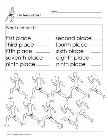 Ordinal Numbers Worksheet 7 Worksheets
