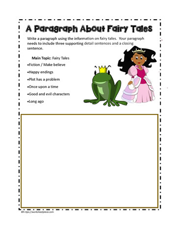 paragraph about fairy tales worksheets. Black Bedroom Furniture Sets. Home Design Ideas