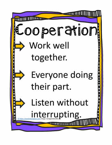 Poster and Definition for Cooperation Worksheets