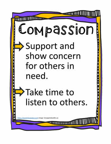 Poster and Definition for Compassion