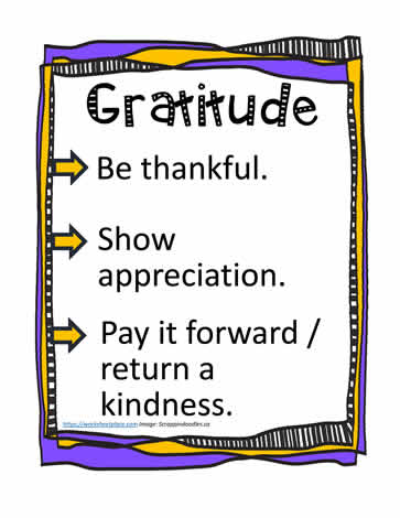 Poster and Definition for Gratitude