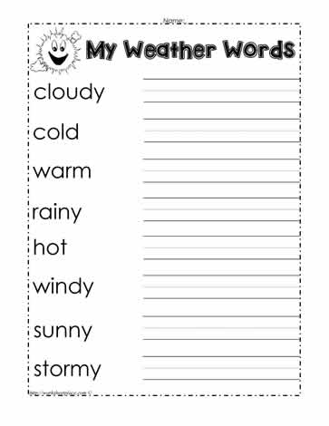 weather words worksheet worksheets. Black Bedroom Furniture Sets. Home Design Ideas