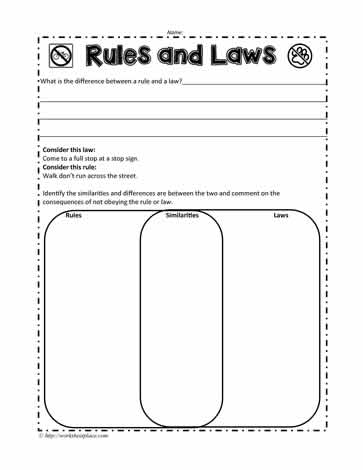 Rules Worksheet