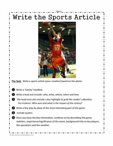 sports article in english
