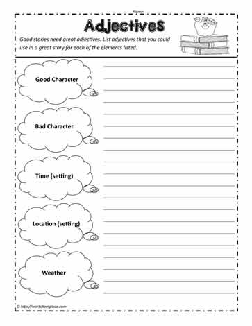 Adjectives for Story Elements