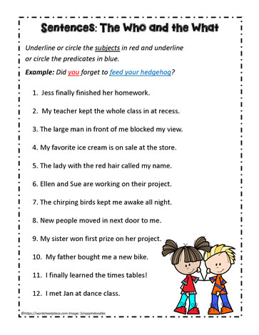 Subject And Predicates - Lessons - Tes Teach