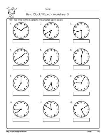 Worksheet -5-Telling-Time