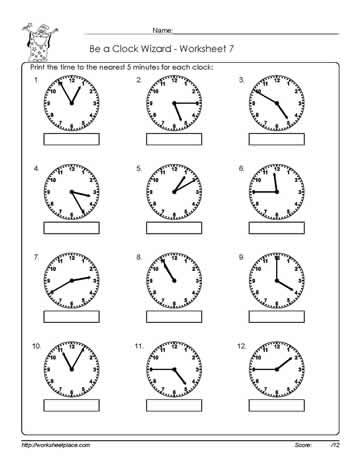 worksheet 7 telling time worksheets. Black Bedroom Furniture Sets. Home Design Ideas