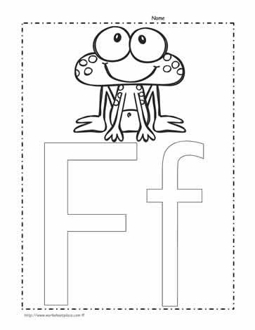 The Letter F Coloring Page Worksheets