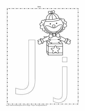 The Letter J Coloring Pictures