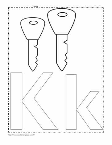 The Letter K Coloring Page