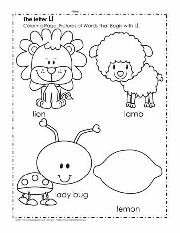 the letter l coloring pictures worksheets. Black Bedroom Furniture Sets. Home Design Ideas