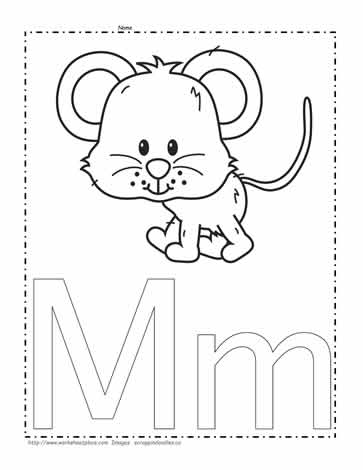 the letter m coloring page - Letter M Coloring Pages